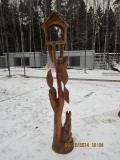 Кормушка с белками. Крюковский лесопарк. | Вольерный комплекс в Крюковском лесопарке Зеленограда
