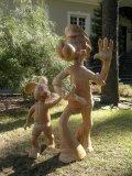 Герои Ну, погоди! из дерева | Детские городки
