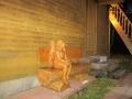 Скамейка из массива дерева | Мебель для парка, дачи и сада из дерева