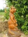 Скульптура из дерева в Русском парке | Русский парк в городе Переславль-Залесский