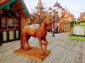 Конь из дерева. | Фестивальная площадка на Святоозерской улице. Москва, Косино-Ухтомское.