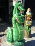 Сказочные скульптуры из дерева | Детские городки
