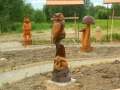 Деревянные композиции в Русском парке | Русский парк в городе Переславль-Залесский