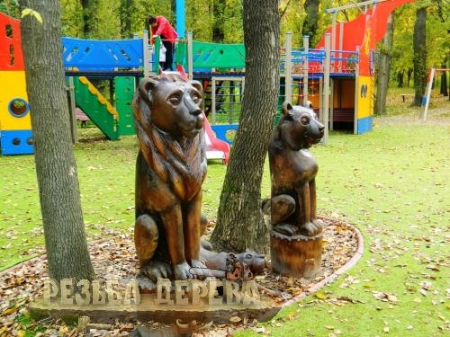Деревянная скульптура в Измайлово