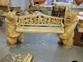 Резная скамеечка с медведями | Мебель для парка, дачи и сада из дерева