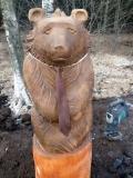 Скульптура медведя в Крюковском лесопарке | Крюковский лесопарк, пос. Силино Московской обл.