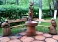 Деревянная скамейка со столиком | Мебель для парка, дачи и сада из дерева