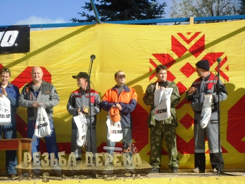 Награждение победителей фестиваля резьбы бензопилой в Чебоксарах